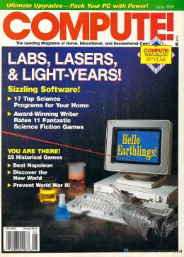 Compute! Magazine Issue #109 - June 1989 - Commodore 128 - 64 - Jack Tramiel - IBM PS1 - Apple II - Amiga - Atari - Lasers