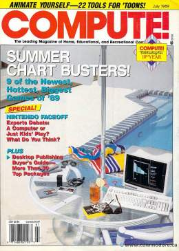 Compute! Magazine Issue #110 - July 1989 - Commodore 128 - 64 - IBM PS1 - Apple II - Amiga - Atari - Nintendo