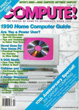Compute! Magazine Issue #113 - October 1989 - Commodore 128 - 64 - IBM PS1 - Apple II - Amiga - Atari - Home Computer Guide 1990 - CDs