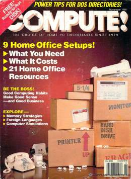 Compute! Magazine Issue #114 - November 1989 - Commodore 128 - 64 - IBM PS1 - Apple II - Amiga - Atari