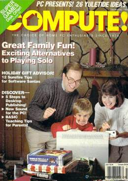 Compute! Magazine Issue #115 - December 1989 - Commodore 128 - 64 - IBM PS1 - Apple II - Amiga - Atari