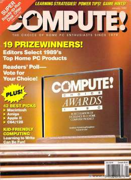 Compute! Magazine Issue #116 - January 1990 - Commodore 128 - 64 - IBM PS1 - Apple II - Amiga - Atari