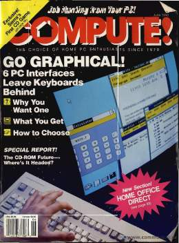 Compute! Magazine Issue #121 - June1990 - Commodore 128 - Amiga - IBM PS1 - Apple - Amiga - GUI