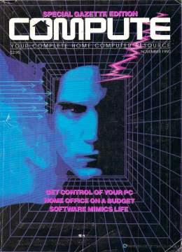 Compute! Magazine Issue #123 - November 1990 - Commodore 128 - Amiga - IBM PS1 - Apple - Amiga - Home Office