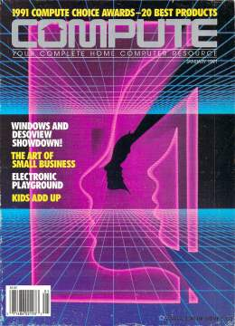 Compute! Magazine Issue #125 -January 1991 - Windows and Desqview - IBM PC - Clones - Commodore - Amiga - Apple