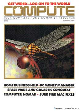 Compute! Magazine Issue #126 - February 1991 -  IBM PC - Clones - Amiga - Apple - PC Money Manager Space Wars - Mac Fixes