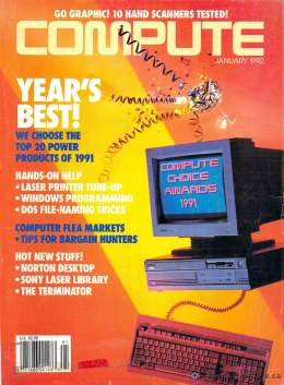 Compute! Magazine Issue #137 - January 1992 -  IBM PC - Clones - Amiga - Product of the Year - DOS File Naming