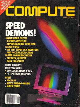 Compute! Magazine Issue #143 - August 1992 - Speed Video VGA Monitor Test Commodore Apple Microsoft