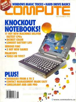 Compute! Magazine Issue #146 - November 1992 - Notebooks Fastest Palmtops Commodore Apple Microsoft