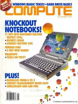 Compute! Magazine Issue #146 - November 1992 - Notebooks Fastest Palmtops Commodore Apple Microsoft