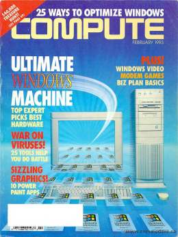Compute! Magazine Issue #149 - February 1993 - Ultimate Windows Machine Modem Viruses Games Commodore Applle Microsoft IBM