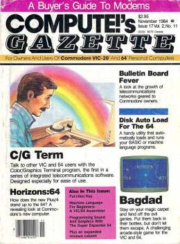 Compute Gazette - Issue 17 - November 1984 - Bulletin Board - Autoload Disk - Commodore VIC-20 64