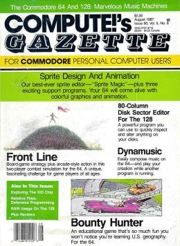 Compute Gazette - Issue 50 - August 1987 - Sprite Desgin and Animation - - Commodore VIC-20 64 128 Amiga