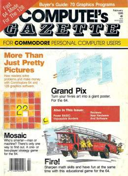 Compute Gazette - Issue 56 - February 1988 - Grand PRix Mosaic Commodore VIC-20 64 128 Amiga