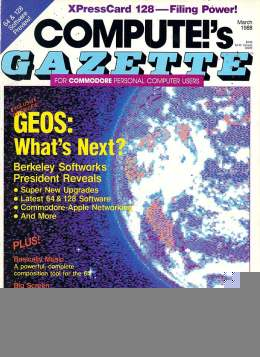Compute Gazette - Issue 57 - March 1988 - GEOS: Whats Next Commodore VIC-20 64 128 Amiga