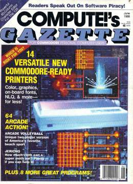Compute Gazette - Issue 60 - June 1988 - Printers - Commodore VIC-20 64 128 Amiga