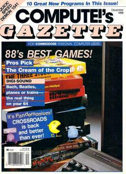 Compute Gazette - Issue 63 - December 1988 - Best Games Digi-Sound - Desktop Publishing Commodore VIC-20 64 128 Amiga
