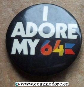 I ADORE MY 64 BUTTON