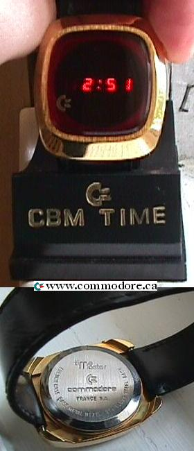 COMMODORE GOLD DIGITAL WATCH AND RETAIL PACKAGING