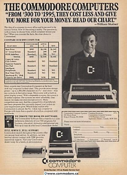 Commodore Pet William Shatner