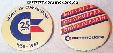 WORLD OF COMMODORE 25TH AVVIVERSARY BUTTON