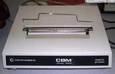COMMODORE CBM 2023: This dot matrix printer was designed for the PET 2001-8. It's definitely a rare one.