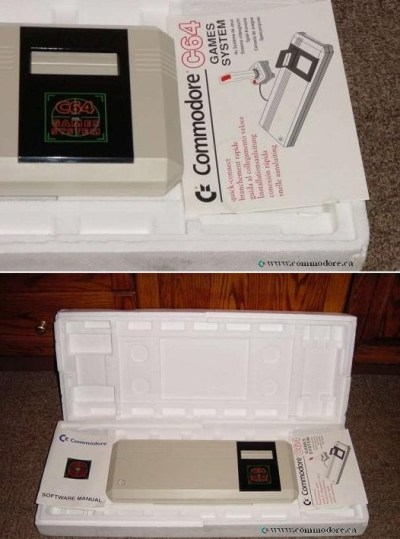 COMMODORE 64GS - GAME SYSTEM: These 64's were released in the late 1980's as a cheap version of the C64 that only accepts cartridges... ya... it has no keyboard. Now that is Plug and Play!