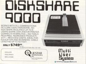 QUESTSTAR INTERNATIONAL DISKSHARE 9000: This device was used to allow Commodore PETs to share a floppy drive between systems. My high school bought a MUPET system to do the same thing and after a year or so gave up because of reliability problems.