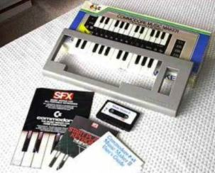 MUSIC MAKER: Keyboard overlay and software for the Commodore 64
