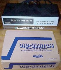 VIC-SWITCH - COMMODORE 4015: The VIC Switch can connect 8 VIC's to a shared drive and / or printer. They were made in Sweden. Many of them carry the Commodore logo, they do not look very Commodore like so I think they were Branded by Commodore but not manufactured by Commodore. I believe there is a 16 port model as well but I have never seen one.