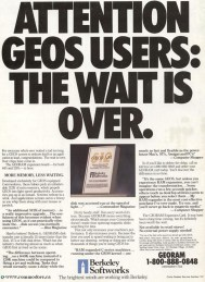ATTENTION GEOS USERS: THE WAIT IS OVER - 512K Card Compute! April 1990