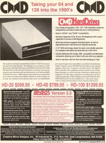 CMD SCSI HARD DRIVES - Compute! - April 1990