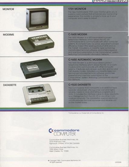 COMMODORE MONITORS MODEMS AND DATASETS - 1701 Monitor, -1600 Modem - CompuServe, C-1650 Modem (Automatic) - CompuServe, C-1530 Dataset