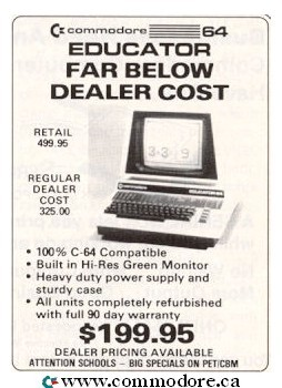Commodore Retailer Advertising – Commodore Computers: VIC20