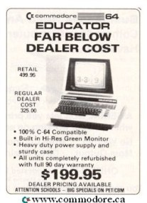 COMMODORE 64 EDUCATOR CLOSE OUT - Far Below Dealer Cost $199 - Ahoy - March 87