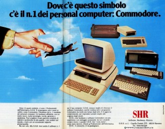 COMPLETE COMMODORE ITALY LINE UP IN 1985 BY BY SHR - PET 8096-D, VIC-20, Plus/4, C64 Portable / Executive, 1541 Drive and line printer