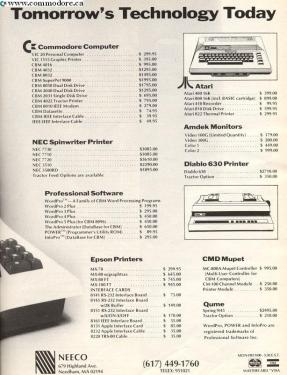 NEECO COMMODORE AND OTHER PRICE LIST - Part 2 Compute! Dec 1982