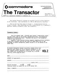 The Transactor Vol 1 11 1979