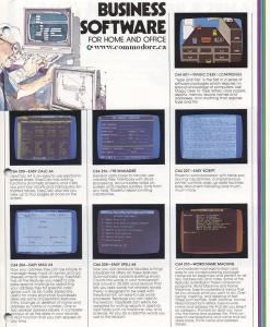 Commodore 64 Software Brochure