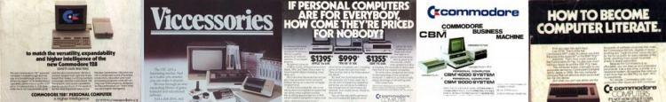 Commodore Computers Magazines C128 VIC20 C64 PET 4000 Slider 1300x200
