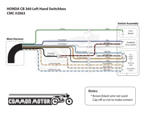 Honda CB360  CB550 Left Hand Switch Box | Common Motor