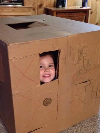 cardboard box kid