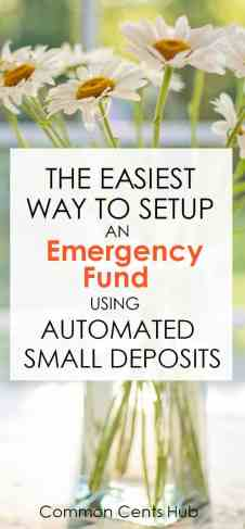 setup an emergency fund