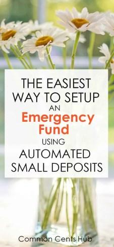 setup an emergency fund