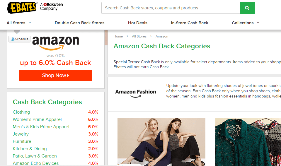 Using eBates with Amazon