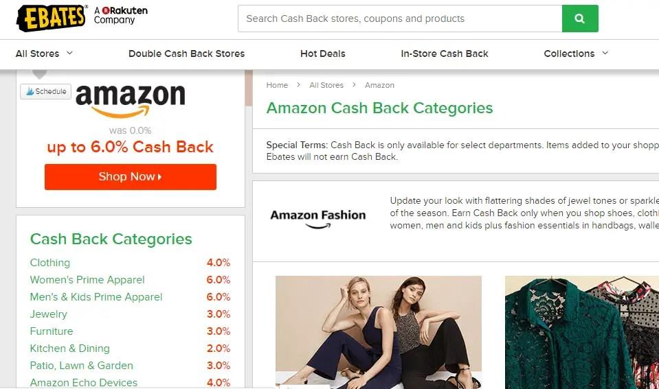Using eBates with Amazon