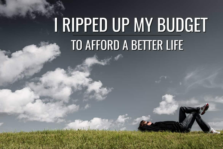 Create a value based budget