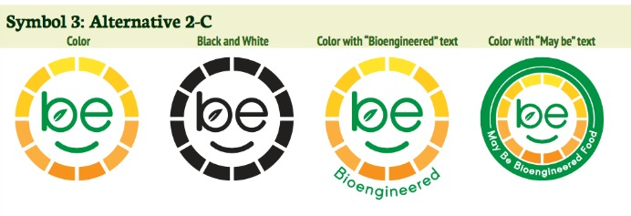 These are among the USDA's proposed Another set of proposed symbols for foods produced using genetic engineering.
