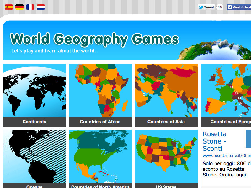 Play this entertaining quiz game with 20 questions to test your knowledge of us states on a map. World Geography Games Review For Teachers Common Sense Education