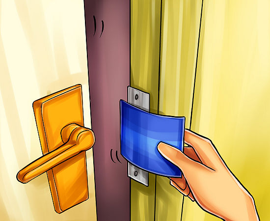How to Open a Door with a Credit Card Step 4